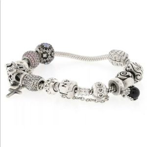 Auth Pandora  925 11 ALE retired Charms Bracelet